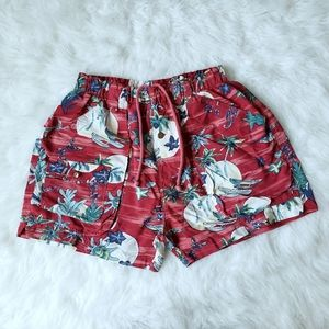 Tommy Bahama red men's beach swim trunks size M